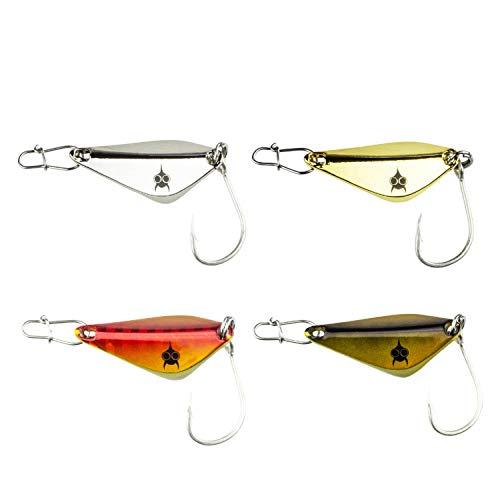 FISHN Trout Spoon Set - Stanza, Peso: 5 Grammi, Lunghezza: 3 cm, Esca Trota, Cucchiaio Trota, Esca Trota per Pesca Trota, salmerino e persico (4 Pezzi)