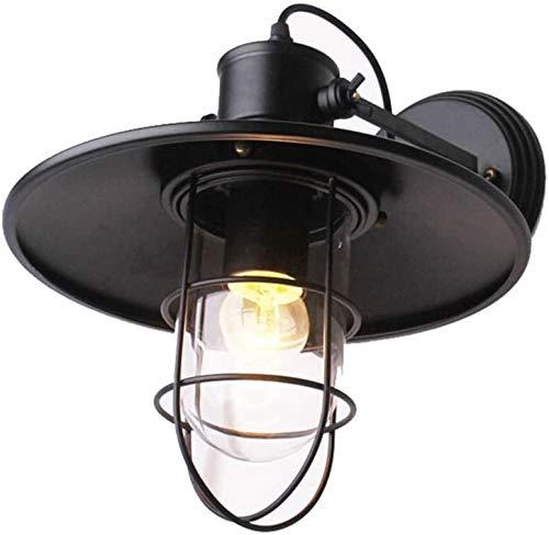 HAITOY Aplique de Pared Antiguo Vintage, lámpara de Pared de Jaula de Metal Lámpara de Pared de Vidrio Retro Loft Terraza Restaurante Café Sala de Estar y Estudio