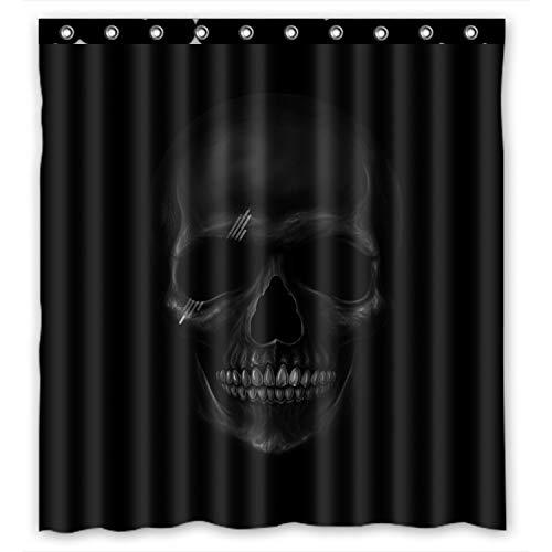 Personalisierte Cool und Horror Totenkopf-Design, dunkel, 100% Polyester, wasserdicht Duschvorhang, Textil 152.40 cm x 182.88 cm