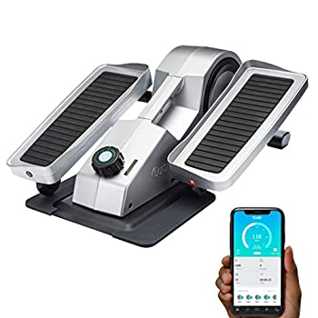 Cubii Pro - Seated Under-Desk Elliptical - Get Fit While You Sit - Bluetooth Enabled Sync with Fitbit and Apple HealthKit - Whisper-Quiet - Adjustable Resistance - Easy to Assemble  Chrome