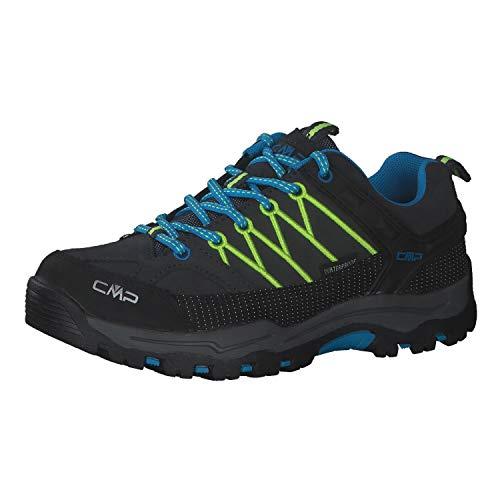 CMP Kinder Trekking Schuhe Rigel Low WP 3Q13244J Antracite-Yellow Fluo 39