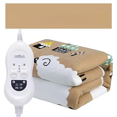 Manta eléctrica para cama de 90 x 180 ovejas