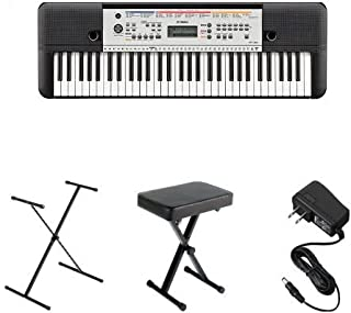 Yamaha YPT-260 Portable Keyboard Bundle with Stand, Bench an