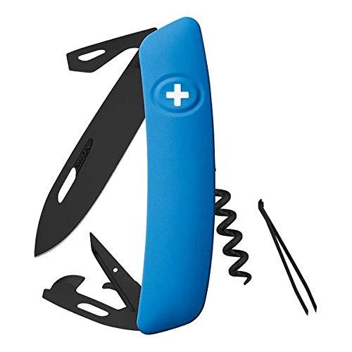 Swiza Heren D03 Zakmes, blauw, 17 cm