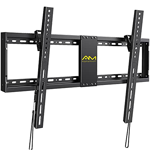 TV Mount, Tilt TV Wall Mount Bracket Low Profile for Most 32-84 Inch Flat/Curved TVs,Mount up to VESA 800X400mm and 132lbs for 16-24 Inch Studs, Easy to Install and Space Saving APXTK2