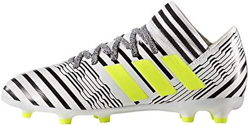 adidas Nemeziz 17.3 FG J, Botas de fútbol Unisex niños, Blanco (Ftwbla/Amasol/Negbas), 28 EU