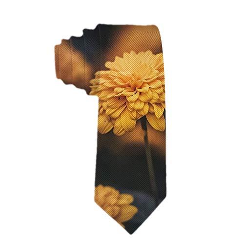 Corbata de flor amarilla pequeña para hombre Corbata de poliéster Corbata de jacquard para hombre Regalo de novedad