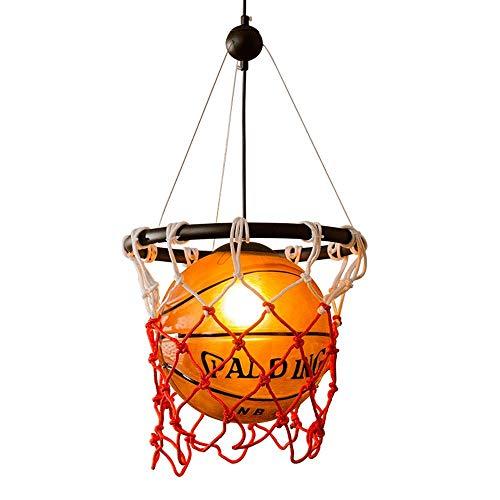 AI LI WEI mooie lampen/retro basketbal lichten creatieve persoonlijkheid restaurant bar hangende plafondlampen Stadium Sport-Hema Art Light E27 lichtbron Hanging