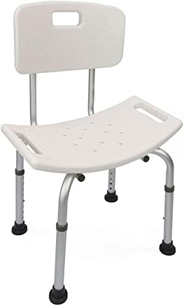 Shower chair with adjustable height for elderly