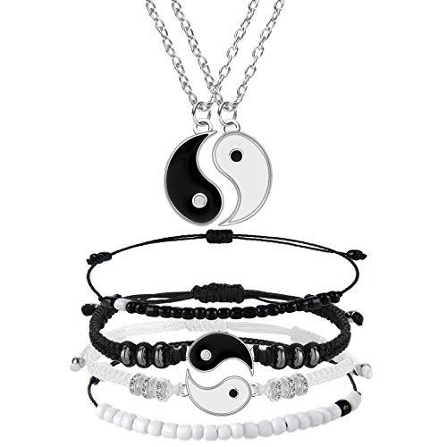 6 Pieces Matching Yin Yang Friend Couple Bracelets...