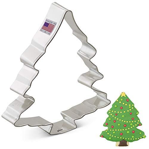 Ann Clark Cookie Cutters a forma di albero di Natale - 13 cm - Acciaio prodotto negli Stati Uniti