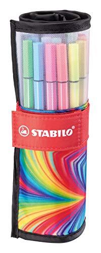 Pennarello Premium - STABILO Pen 68 - Rollerset con 25 colori assortiti - ARTY Edition