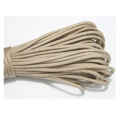 LCHB - Cuerda de paracaídas de 10 m, color caramelo 550, cuerda de nailon para escalada (color: beige, longitud (m) : 10)