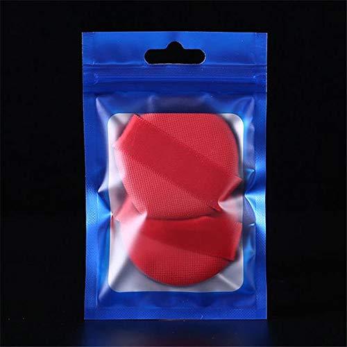 ZBXCVZH 50 stücke 7 * 10 cm Haustier holoographic Zip Lock Tasche laserfolie Beutel Wiederverwendbare schmuck verpackung small Food Tasche Tasche (Color : Blue, Size : 7.5x12cm)