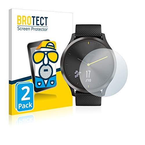 BROTECT 2X Entspiegelungs-Schutzfolie kompatibel mit Garmin vivomove HR Displayschutz-Folie Matt, Anti-Reflex, Anti-Fingerprint