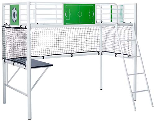 Powell Goal Keeper Loft Bed, Twin, White