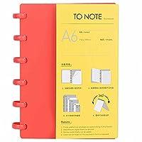 360度折りたたまれたA6紙の事務用品、筆記具、日常生活の学校の男の子の女の子のための(Horizontal line (red))