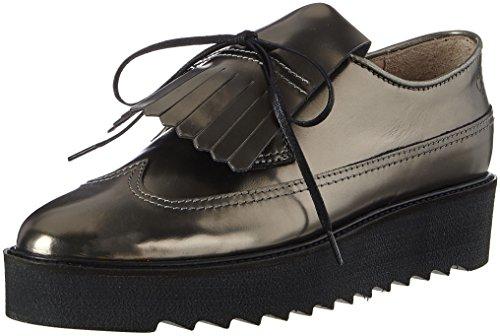 Marc O'Polo Damen Lace Up Shoe 70814243402102 Slipper, Silber (Gunmetal), 40 EU