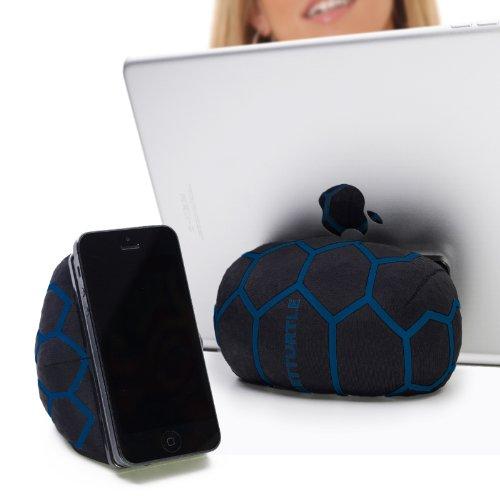 SMARTTURTLE multifunktionale iPad Halterung, Made in Austria, Sitzsack für Smartphone, Handy, eReader, Tablet, iPhone, iPad Air 1/2/3/4, Samsung Note Galaxy für Tisch, Bett, Sofa, Auto uvam - blau