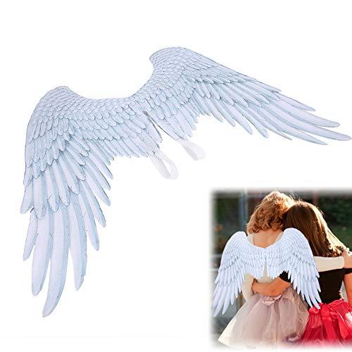 Zerodis Grandes Ailes d'ange, Ailes de fée 3D déguisement déguisement fête d'halloween Mardi Gras Cosplay Ailes pour Adultes Hommes Femmes Enfants Enfants Accessoires de décoration d'halloween(Blanc)