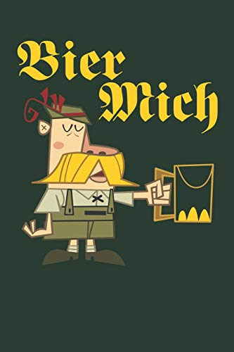 BIER MICH: Humorous Composition Notebook - 6 x 9 110 pages - Green
