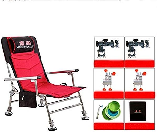 FAY Chaise de Camping Pliante Portable, Chaise de pêche, Chaise Amovible Trois en Un, siège léger en Oxford, Camping de pêche en Plein air pour Pique-Nique