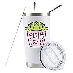 plant lady stainless steel tumbler