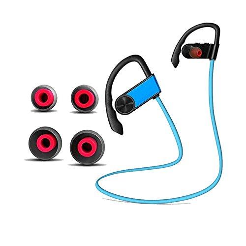 Beho KALOAD T1 Bluetooth 4.1ワイヤレスイヤホンスポーツCVC6.0ノイズキャンセリング防水ヘッドセット - ブルー