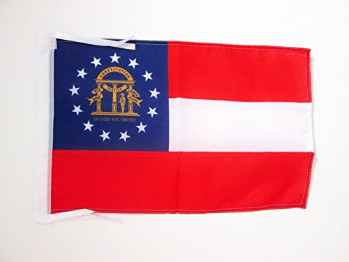 AZ FLAG Flagge Georgia 45x30cm mit Kordel - GEORGISCHE Bundesstaat Fahne 30 x 45 cm - flaggen Top Qualität