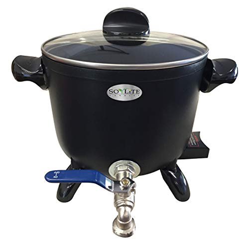 Wax Melter for Candle Making - Holds Approximately 6 Qts of Melted Wax - Easy Pour Valve - Free Ebook - by SOYLITE CANDLES