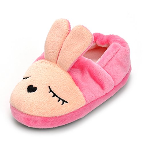 Enteer Baby Girls' Bunny Slipper 5-6 M US Toddler, Rose