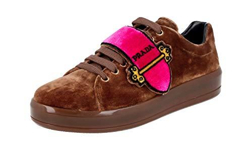 Prada Damen Braun Samt Sneaker 1E983H 41 EU