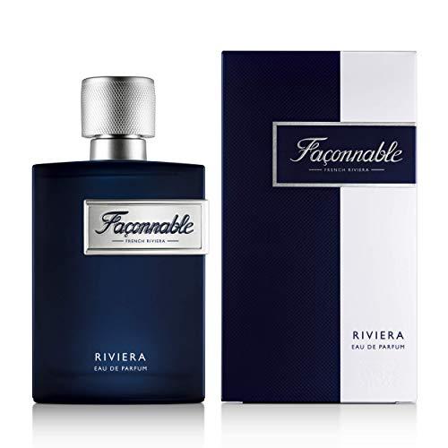 Façonnable - Eau de Parfum pour Homme - Riviera - Senteur Boisée & Aromatique - 90ml