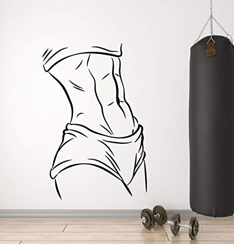 Tianpengyuanshuai Vinyl Wandaufkleber Muskel Schöne Sexy Körper Aufkleber Art Deco Aufkleber 57X85cm
