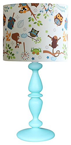Studio Zappriani tafellamp model Jungle Owls conisch, textuur, E27, 60 W, wit, 30 x 60 cm, 2 stuks