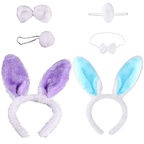 Orejas de conejo de peluche, orejas de conejo, diadema, orejas de conejo,...