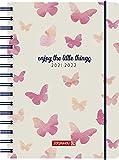 """BRUNNEN 1072055042 Schülerkalender 2021/2022 """"Butterfly"""" 1 Seite = 1 Tag, Sa. + So. auf einer Seite, Blattgröße 14,8 x 21 cm, A5, PP-Einband"""
