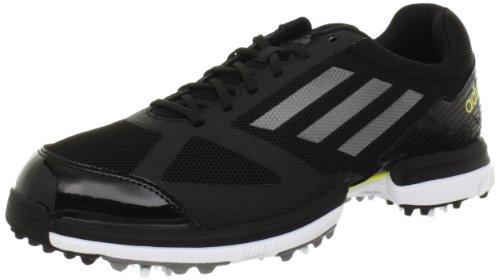 adidas Adizero Sport-Golfschuh für Herren, Schwarz (Schwarz/Dunkelsilber Metallic/lebhaftes Gelb), 41 EU