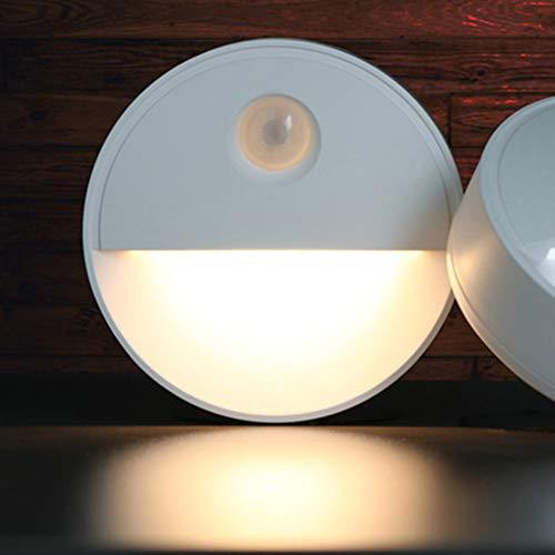 Lámpara de pared LED para interior y exterior, 10 LED, sensor de cuerpo humano, luz nocturna PIR, armario de movimiento, lámpara de pared