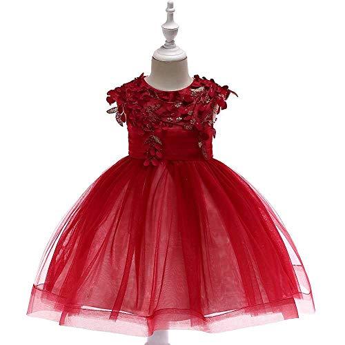 Meisjes buiten de schouders, bowknot prinses jurk met kant voor meisjes, bloemenmeisjes, pak voor bruiloft, piana, kleding 3-11 jaar
