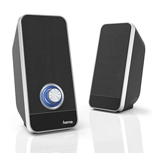 Hama Sonic LS-206 6W Negro, Plata Altavoz - Altavoces (2.0 Canales, 6 W, 50-20000 Hz, 4 Ω, Negro, Plata)