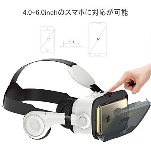 『iDudu 3DVRゴーグル ヘッドセット実装 焦点/瞳孔距離調節可能 音量調整可能』の4枚目の画像