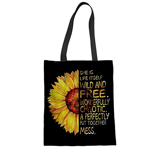 Renewold Bolso de lona para mujer casual bolso de mano de compras bolso de mano de la compra bolsa portátil bolso de hombro bolso ecológico Hobo bolsa