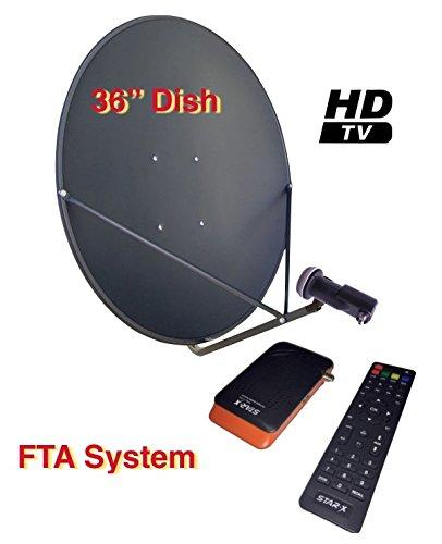 "Sadoun S1-PVR300HD 36"" FTA Complete HD DVR Satellite System Free to Air"