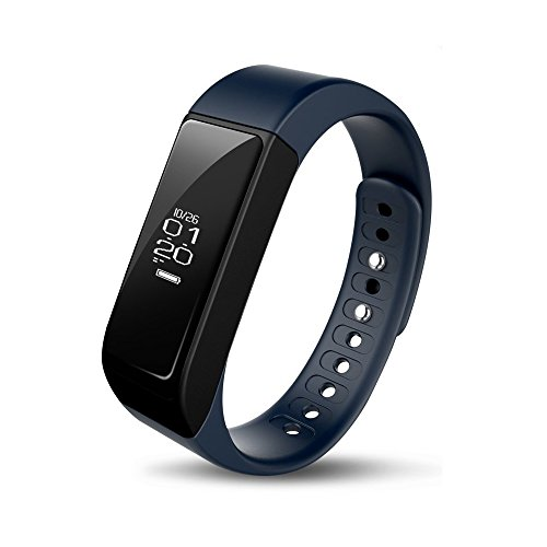 iWOWNfit I5Plus Smart Wristband, Bluetooth Touch Screen Contapassi, Calorie, Braccialetto per iOS e Android (blu)