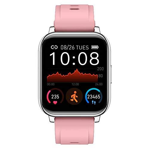 XQTEI 1.3 pulgadas frecuencia cardíaca presión arterial monitoreo de oxígeno en sangre deportes monitoreo de sueño de toque completo IP67 reloj inteligente con hebilla de doble anillo