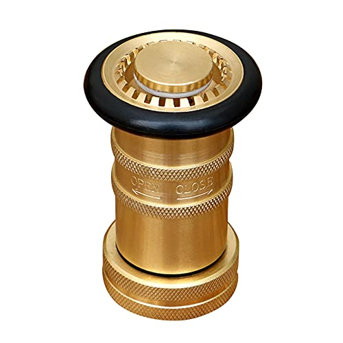 Boquilla para manguera contra incendios - Boquilla para manguera contra incendios de 1 pulgada de latón, boquilla antiniebla industrial resistente para equipos contra incendios