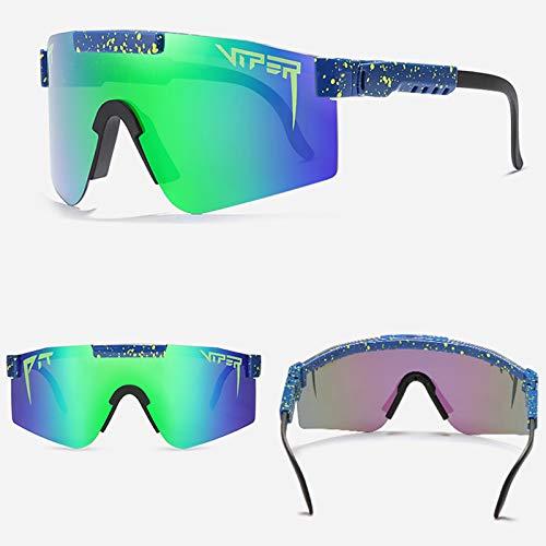 Gafas De Sol, Gafas De Ciclismo Al Aire Libre, Gafas De Sol Polarizadas, Gafas De Sol De Movimiento UV400 Polarizadas para Mujeres Y Hombres con Protección UV (C12)