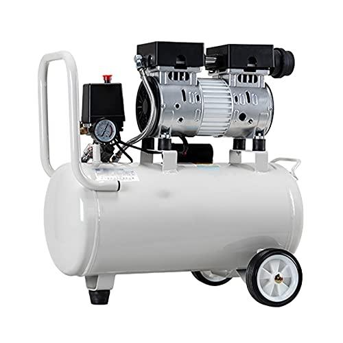 Compresor de Aire Bomba sin Aceite Portátil 9/18 / 30L Compresor de Almacenamiento de Gas Pequeño y silencioso Compresor de 600 W para decoración del hogar Pintura en Aerosol, Inflado de neumáticos