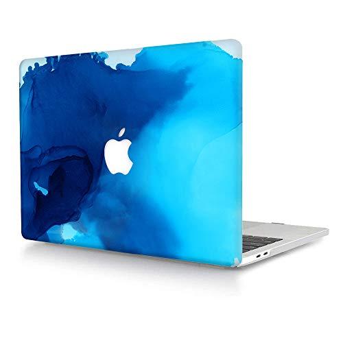 AJYX Hülle für MacBook Pro 13 Zoll 2020/2019/2018/2017/2016 A2338 M1 A2289 A2251 A2159 A1989 A1706 A1708, Plastik Hartschale Koffer Schutzhülle Snap Hülle - Blauer Nebel